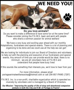 PAWS need you!